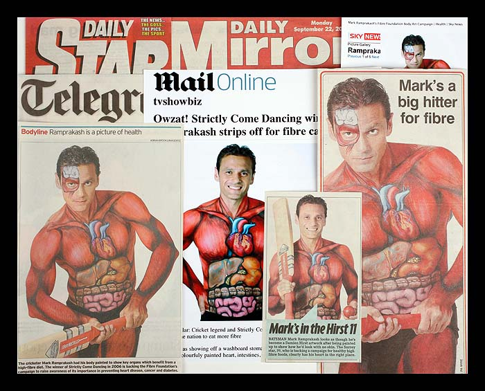 Mark Ramprakash strips off to encourage the nation to eat more fibre - Multiple Newspapers